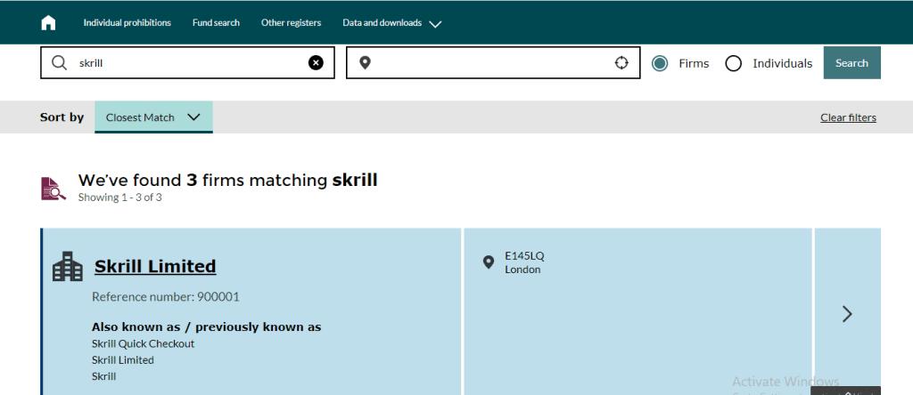 Skrill Payment Safe